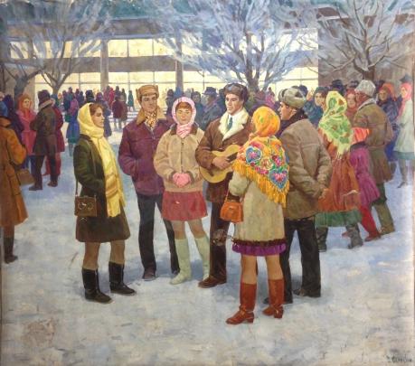 «Вечером у клуба» 1972 - Одайник-Самоойленко Зоя Алексаандровна