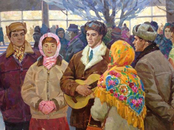 «Вечером у клуба»-Одайник-Самоойленко Зоя Алексаандровна