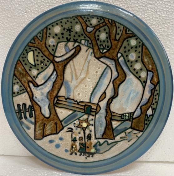 Декоративная тарелка «Колядники» ЛКСФ 1960 е - Декоративная тарелка «Колядники» ЛКСФ