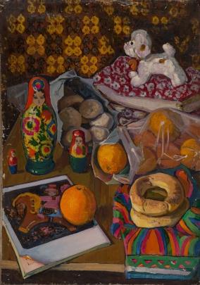 «Натюрморт с матрешками» 1960 е - Костенко Виктория Николаевна
