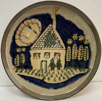 Декоративная тарелка «Мой дом» ЛКСФ 1950 е - Декоративная тарелка «Мой дом» ЛКСФ
