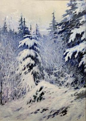 «Зима в лесу» 1963 - Шумунов Бениамин Бениаминович