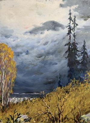 «Осень в горах» 1960 е - Шумунов Бениамин Бениаминович