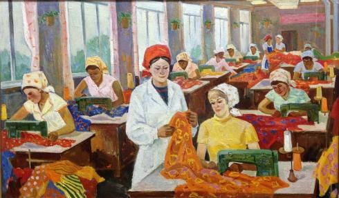 «В швейном цеху» 1970 е - Фоменок Станислав Федорович