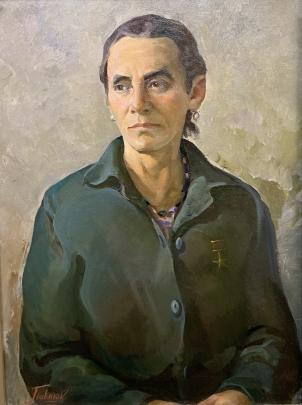 «Портрет Героя Социалистического труда, колхозницы Васелины» 1979 - Павлюк Альберт Семенович