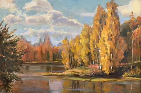 Пейзаж «Осень» 2002 - Гончаренко Валентина Яковлевна
