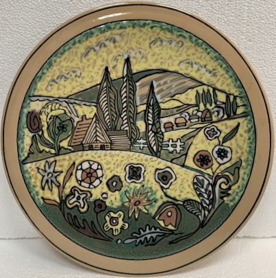Декоративная тарелка «Лето» ЛКСФ 1970 - Декоративная тарелка «Лето» ЛКСФ