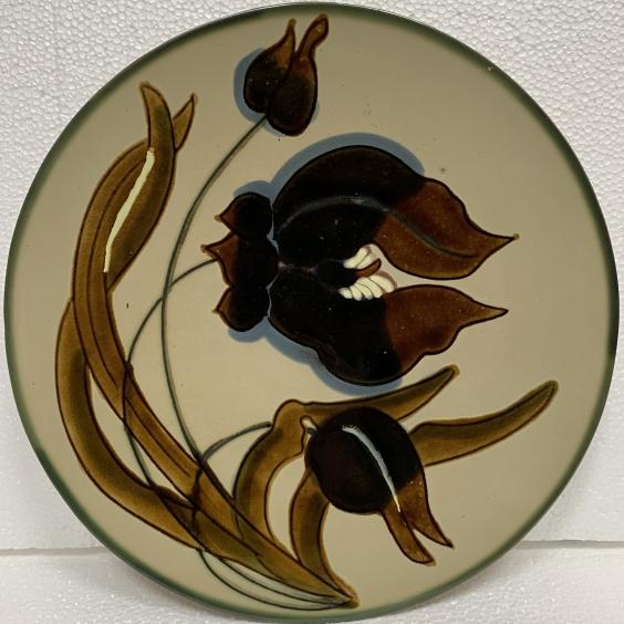 Декоративная тарелка «Цветок» ЛКСФ 1960 е - Декоративная тарелка «Цветок» ЛКСФ