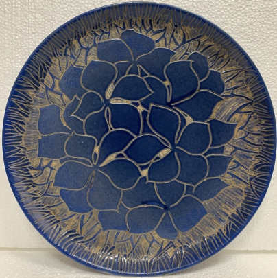 Декоративная тарелка «Цветочный узор» ЛКСФ 1970 е - Декоративная тарелка «Цветочный узор» ЛКСФ