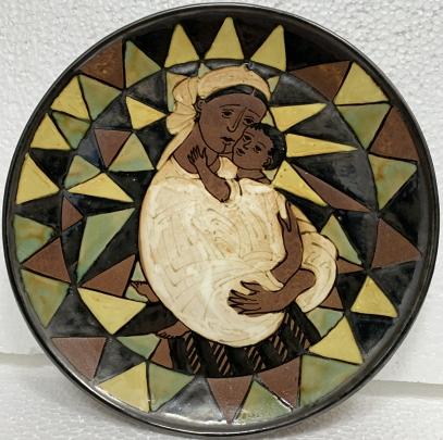 ЛКСФ Декоративная тарелка «Мать и Дитя» 1960 е - ЛКСФ Декоративная тарелка «Мать и Дитя»