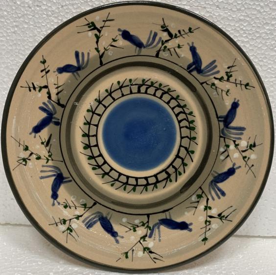 Декоративная тарелка «Птицы» ЛКСФ, авторская 1960 е - Декоративная тарелка «Птицы» ЛКСФ, авторская