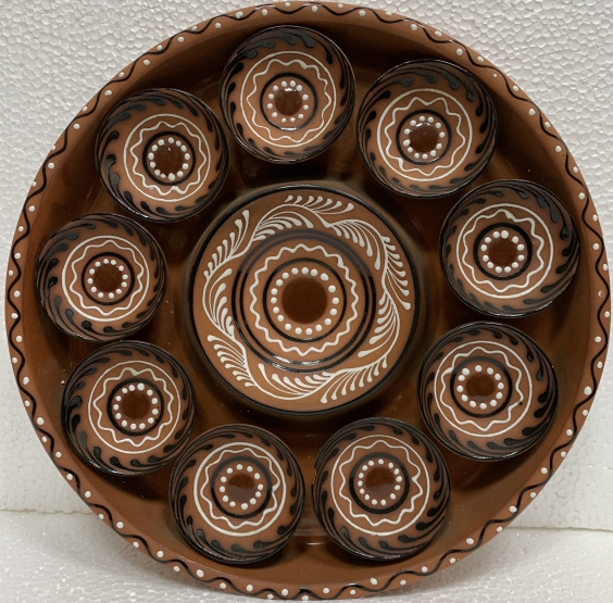 Декоративная тарелка «Тарелки» ЛКСФ 1980 е - Декоративная тарелка «Тарелки» ЛКСФ