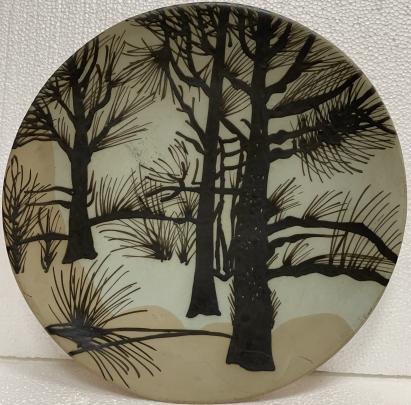 Декоративная тарелка «Деревья» ЛКСФ 1960 е - Декоративная тарелка «Деревья» ЛКСФ