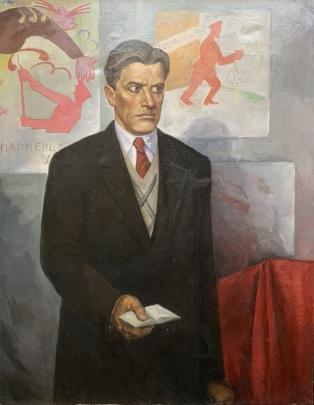 Портрет «Владимир Маяковский — Окна РОСТА» 1985 - Санакоев Борис Иосифович