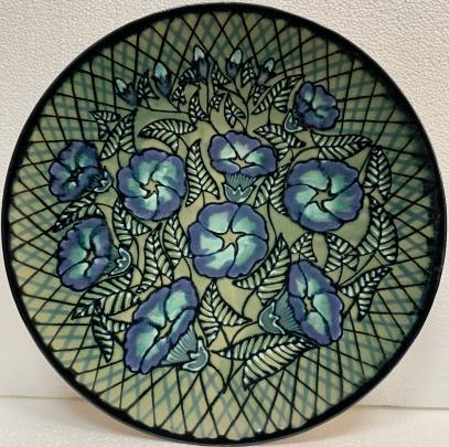 Декоративная тарелка «Колокольчики» ЛКСФ, авторская 1970 е - Декоративная тарелка «Колокольчики» ЛКСФ, авторская