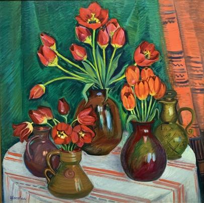 Натюрморт «Красные Маки» 1981 - Шаповал Э.И.