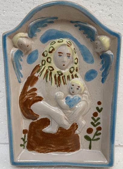 Панно керамическое ЛКСФ «Матерь Божия» 1970 е - Панно керамическое ЛКСФ «Матерь Божия»