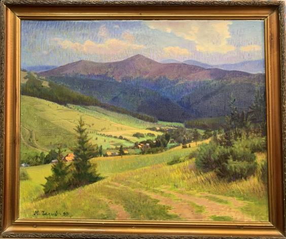 Пейзаж «Село Гукливе»-Чалый Николай Федорович