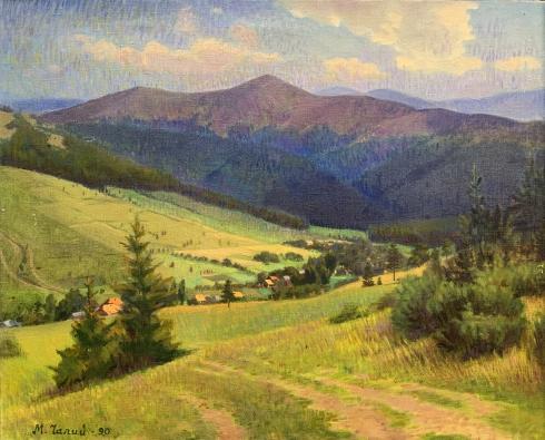 Пейзаж «Село Гукливе» 1990 - Чалый Николай Федорович