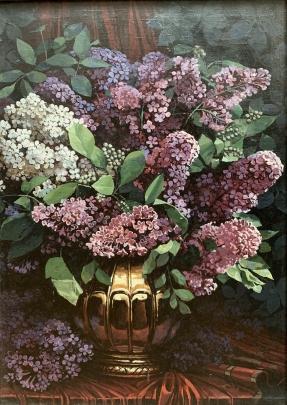 Натюрморт «Сирень» 1970 е гг. - Шавырин А.И.