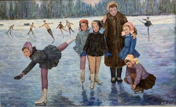«Тренировка на льду. Динамо» 1970 е - Соколова Лилия Ивановна