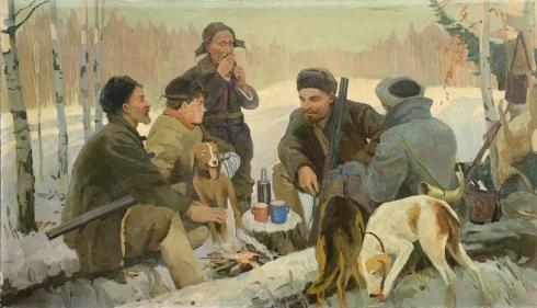 «Ленин на охоте» 1950 е - Вовк Александр Иванович