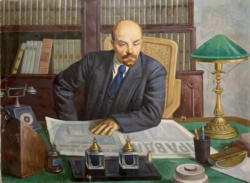 «В кабинете. В.И. Ленин» 1980 е - «В кабинете. В.И. Ленин»