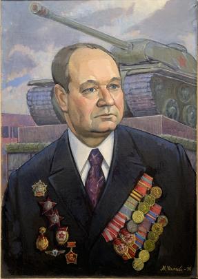 «Портрет ветерана Великой Отечественной войны Тарасишина И.А.» 1975 - Чалый Николай Федорович