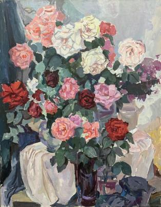 Натюрморт «Розы» 2006 - Грищенко Варвара Павловна