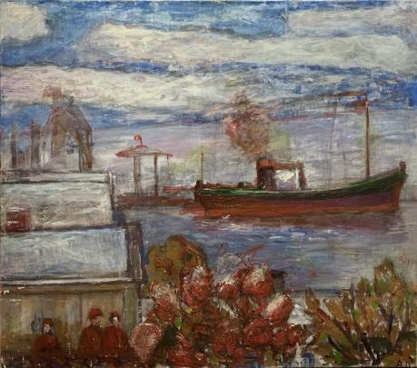 «Вид на Ильичевский порт» 1970 е - Илюшин Алексей Андреевич