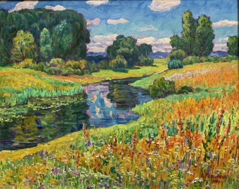 Пейзаж «За Десной» 1998 - Мордовец Андрей Никитович
