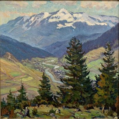 Пейзаж «Долина р. Теребля» 1982 - Мордовец Андрей Никитович
