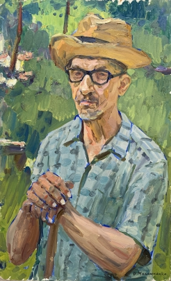Портрет «В саду» 1960 е гг. - Максименко Александр Григорьевич
