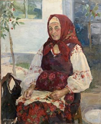 «Портрет пожилой женщины» 1992 - Титаренко Дарья Анатольевна