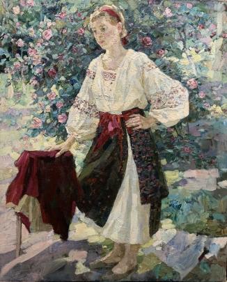 Портрет «В саду» 1990 е - Титаренко Дарья Анатольевна