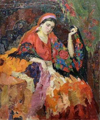 «Портрет молодой цыганки» 1993 - Титаренко Мария Анатольевна