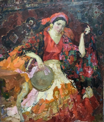 «Цыганка с бубном» 1993 - Титаренко Мария Анатольевна