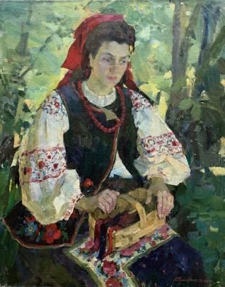 «Девушка с лентами. Портрет Аллы Холод» 1999-2001 - Титаренко Мария Анатольевна