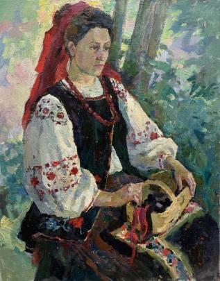 «Девушка с корзиной» 1990 е - Титаренко Дарья Анатольевна