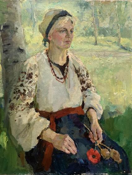 «Девушка в саду» 1993 - Титаренко Дарья Анатольевна