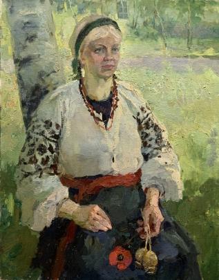 «Портрет женщины в украинской одежде. Луция» 1990 - Титаренко Мария Анатольевна