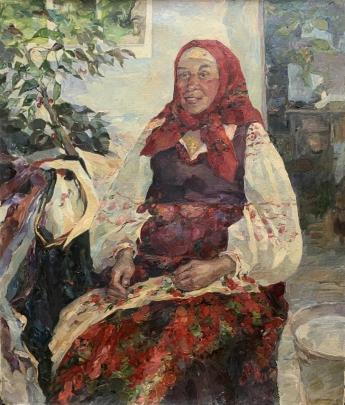 «Портрет пожилой женщины» 1992 - Титаренко Мария Анатольевна