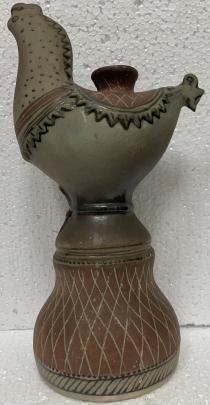 Подсвечник керамический «Петушок» ЛКСФ 1960 е - Подсвечник керамический «Петушок» ЛКСФ