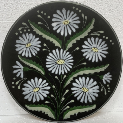 Декоративная тарелка «Ромашки» ЛКСФ 1960 е - Декоративная тарелка «Ромашки» ЛКСФ