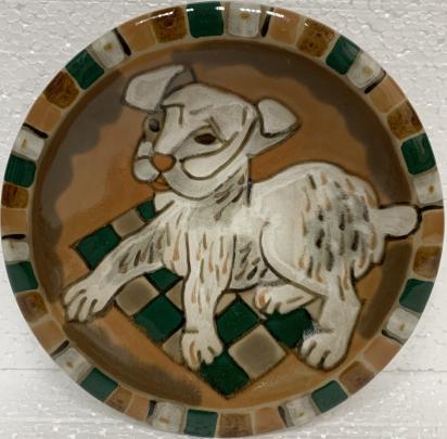 Декоративная тарелка «Щенок» ЛКСФ 1970 е - Декоративная тарелка «Щенок» ЛКСФ