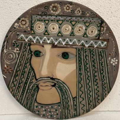 Декоративная тарелка «Жених» ЛКСФ, авторская 1960 е - Курочка Мария Ефимовна