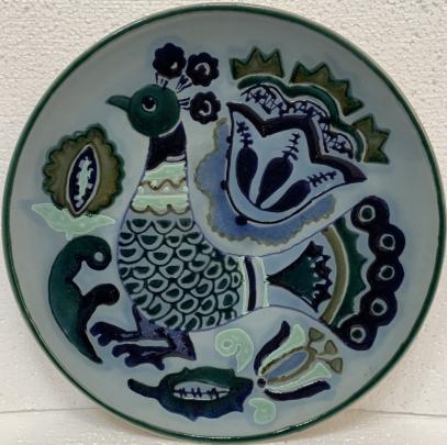 Декоративная тарелка «Глухарь» ЛКСФ 1960 е - Декоративная тарелка «Глухарь» ЛКСФ