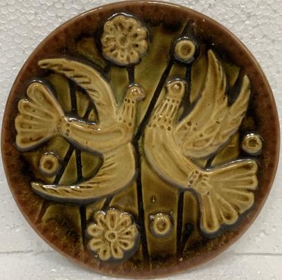 Декоративная тарелка «Голуби Мира» ЛКСФ 1970 е - Декоративная тарелка «Голуби Мира» ЛКСФ