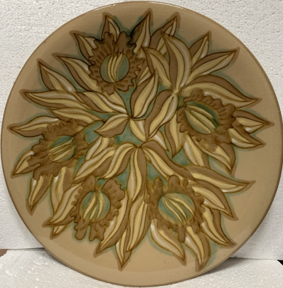 Декоративная тарелка «Цветок» ЛКСФ 1970 е - Декоративная тарелка «Цветок» ЛКСФ