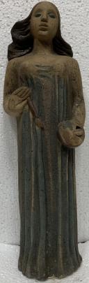 Декоративная скульптура «Художник» ЛКСФ 1970 е - Киселева Лариса